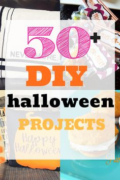 Giant list of over 50 DIY Halloween projects from sewing, to recipes, to costumes and activities for kids.