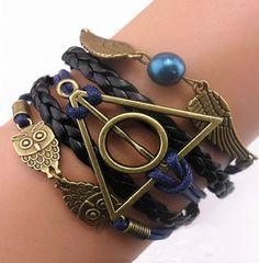 Harry Potter Deathly Hallows Charms Bracelet