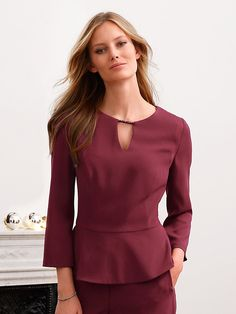 Blouse with a peplum