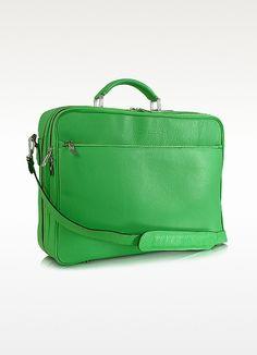 Moreschi Calf Leather Laptop Briefcase