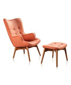 Take a look at this Orange Two-Piece Carlton Lounge Set on zulily today!