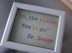 Dr Seuss art print cream places you'll go by SweetMeadowDesigns, $13.00