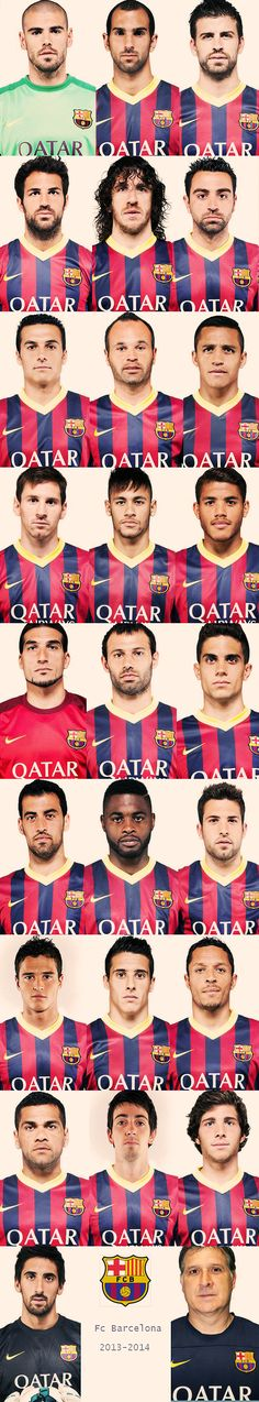 Barca team 2013/14 #fcbarcelona #barca literally best soccer line-up imaginable