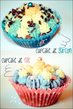 so cute, cupcake de garcon... cupcake de fille <3   Cupcake b-1