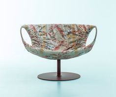 Smock chair by Patricia Urquiola with Rubelli upholstery, Lo Sguardo Laterale: Moroso
