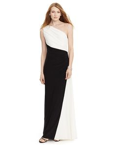 Color-Blocked Jersey Gown - Lauren Evening - RalphLauren.com