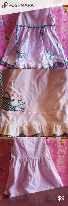 Girls Pink Poodle Dress Vintage Style Size 6 Good condition. No stains or tears.  I specialize in baby/childrens clothing. Bundle items to save on shipping. All bundles get 10% off. New items added all the time! Dresses Formal