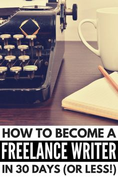 Want to know how to become a freelance writer? We've rounded up all of our tried and test tips and tricks to teach you how you can make money writing at home in 30 days (or less)! Check out how to get started writing articles for awesome publications, and turn freelance writing into your dream career!