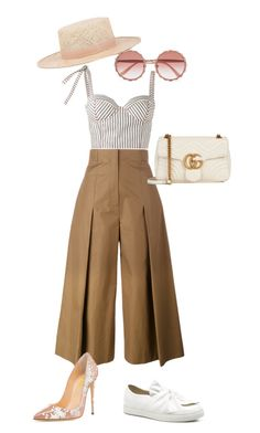 """Coolin'..."" by la-harrell-styling-co on Polyvore featuring Fendi, Rosie Assoulin, Dolce&Gabbana, Gucci and Janessa Leone"