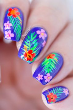 Tropical Summer Nail Art TUTORIAL