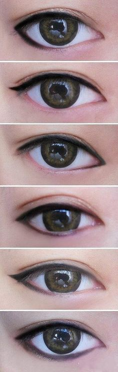 different style eyeliner gives different looks