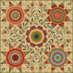Pennsylvania Star Quilt Kit by Edyta Sitar as seen at Quilt Sampler