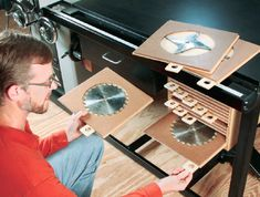 How to Build Table Saw Blade Storage and Organizer - Free Woodworking Plans. Rockler.com