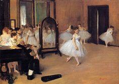 The Dancing Class - Edgar Degas, 1870