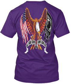 All Have Some Some Gave All Purple T-Shirt Back