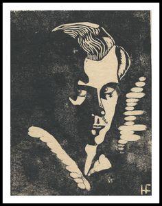 Fritz Habeck Linolschnitte und Holzschnitte: Fritz Habeck expressionistische Holz und Linolschn... Fritz, Woodblock Print