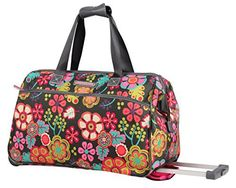 New Trending Briefcases amp; Laptop Bags: Lily Bloom Wheeled Duffel Bag (14in, Folky Floral). Lily Bloom Wheeled Duffel Bag (14in, Folky Floral)  Special Offer: $49.99  111 Reviews Lily Bloom, a handbag and accessories line focused on sustainable fashion, revels in vibrant colors and feminine prints. Each piece is made from a signature fabric created from recycled plastic...