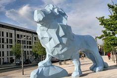 Bordeaux : le Lion Bleu de la place Stalingrad - Rive droite