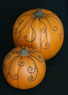 Pumpkins Dotted with Paint