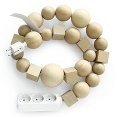 artist: bless | multiplug wood cable jewelry