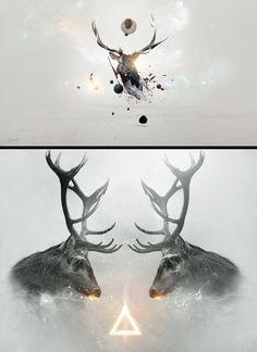 25 illustrations and original graphics around the Deer