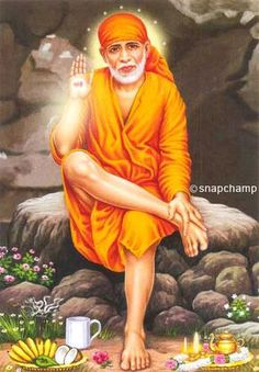 This is picture of Sai Baba who was an Indian .He preached that all religions are one. #saibaba #interfaith #Shirdisaibaba #Shirdi #indianGod