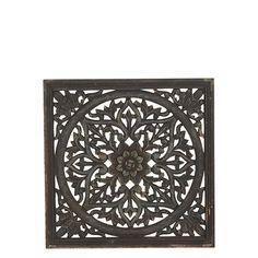 Snygg trädekoration för väggen, fönsterskydd eller liknande. Storlek: 2x45x45 cm Från Affari Black Gold, Sweet Home, Wall Decor, Carving, Interior, Painting, Decoration, Natural Materials, Objects