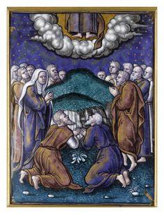 Plaque: l'Ascension par PIERRE REYMOND  - Musée national de la Renaissance (Ecouen)