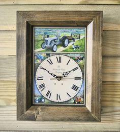 The Handmade Furniture Company Rustic Vintage Tractor Handmade Wooden Wall Clock, £19.99