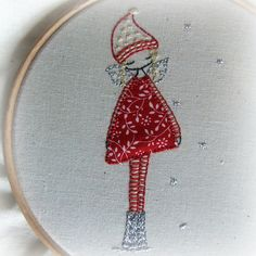 winter fairy embroidery pattern by lili_popo, via Flickr