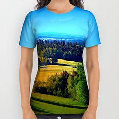 Buy Springtime in the countryside All Over Print Shirt by Patrick Jobst. Worldwide shipping available at Society6.com. Just one of millions of high quality products available. Spring Time, American Apparel, Printed Shirts, Countryside, Unisex, Cotton, Mens Tops, T Shirt, Stuff To Buy