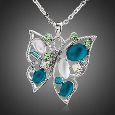 Cheap multicolor necklace, Buy Quality necklace a directly from China necklace multicolor Suppliers: AZORA White Gold Color Multicolor Stellux Austrian Crystal Butterfly Jewelry Pendant Necklace Butterfly Jewelry, Butterfly Pendant, Butterfly Necklace, Pendant Jewelry, Pendant Necklace, Necklace Chain, Crystal Necklace, Jewelry Sets, Gold Necklace