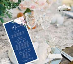 Svatba v růžové s pivoňkami v přírodním a rustikálním stylu. #svatba #budeveselka #boho #beremese #svatebnioznameni #prirodnisvatba #bohosvatba Alcoholic Drinks, Menu, Table Decorations, Boho, Design, Menu Board Design, Liquor Drinks, Bohemian