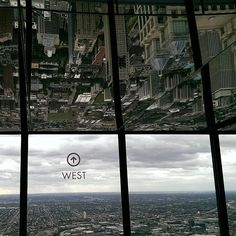 From atop the highest #johnhancockbuilding #chicago #skyline 2015.08