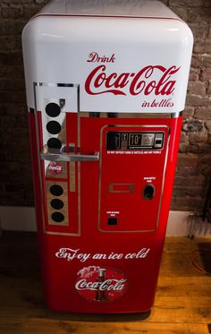 We recently wrapped a red Smeg fridge into a vintage Coca Cola vending machine for a Coca Cola fan in shoreditch. The fridge had a new lease of life and created a talking point upon entering the room. Paint Refrigerator, Refrigerator Wraps, Mini Fridge, Painted Fridge, Vintage Fridge, Vintage Refrigerator, Coca Cola Vintage, Soda Machines, Vending Machines