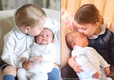 Prince Louis Cuddled by Big Sister Charlotte in His First Photos - What Kate Wore
