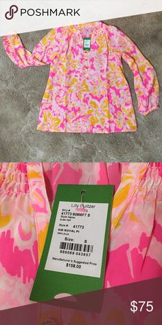 NWT Lilly Pulitzer Top This is a beautiful 100% silk Lilly Pulitzer top, brand new, never been worn and it still has the tags on. Lilly Pulitzer Tops Blouses