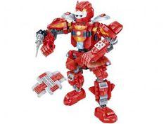 Beast Fighter Robô Fighter Vermelho 228 Peças - BanBao