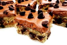 Frosted Chocolate Chip Banana Bars