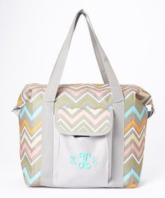 Look at this Gray Monogram Cooler Bag on #zulily today!