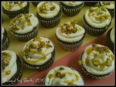 Found a recipe for my next birthday request. Snickers cupcakes with Salted Caramel Buttercream Frosting. Yummo