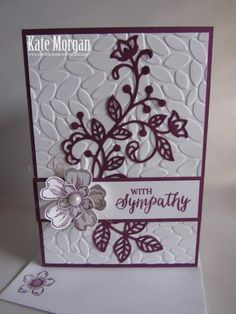 Flourish with Sympathy Greeting Cards Handmade, Making Greeting Cards, With Sympathy Cards, Xmas Cards, Making Cards, Scrapbook Cards, Scrapbooking, Creative Cards, Cute Cards