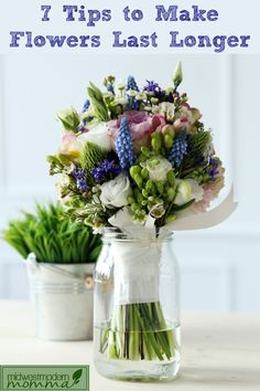 Love fresh flowers but not watching them wither away?  Try these 7 Tips to Make Fresh Flowers Last Longer!