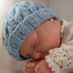 Knitted Baby Cable Hat