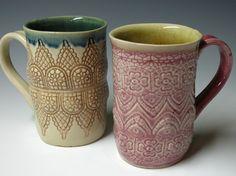 lacy mugs - pretty