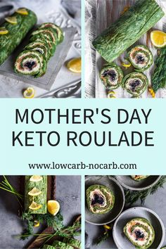 How about surprising your mum on . special Mothers Day with our Extra easy but faboulous looking Keto Spinach Salmon Roulade that nobody can resist? Super simple to make, this Keto Spinach Roulade with Smoked Salmon and Caviar is a perfect Gluten-Free and Low Carb Cold Appetizer or a Canape to make for your next party or gathering. Meal-prep it the day or two before and have it ready without any struggle on the day of an event. Low Carb Dinner Recipes, Keto Dinner, Brunch Recipes, Summer Recipes, Keto Recipes, Breakfast Recipes, Salmon Roulade, Cold Appetizers, Keto Drink