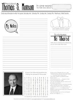 General Conference Packet. Also teacher appreciation printables as well.