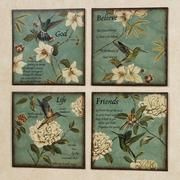 Inspirational Hummingbirds Wall Plaque Set