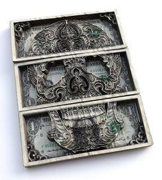 LASER-CUT DOLLAR BILLS BY SCOTT CAMPBELL