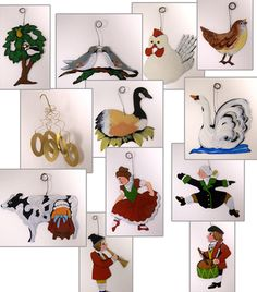 12 Days of Christmas Ornaments